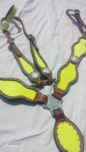 Neon Yellow Sparkle Tack Set